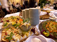 wedding cakes and caterer