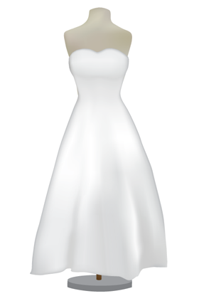 Hour Glass Wedding Gown